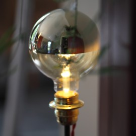 Globe Led calotte argentée D95 E27 5W