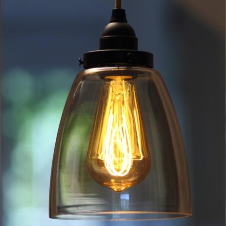 Kit suspension verre ambré - Falbala-luminaires