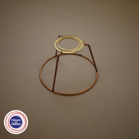 Cercle pour abat jour avec bague E14 retrait 6 D.10