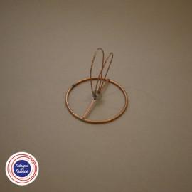 Cercle à pince flamme pour abat-jour D7cm