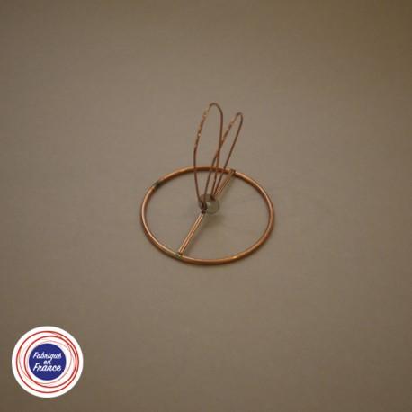 Cercle pour abat jour avec pince flamme - D7 - Falbala-luminaires