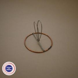 Cercle à pince flamme pour abat-jour D8cm