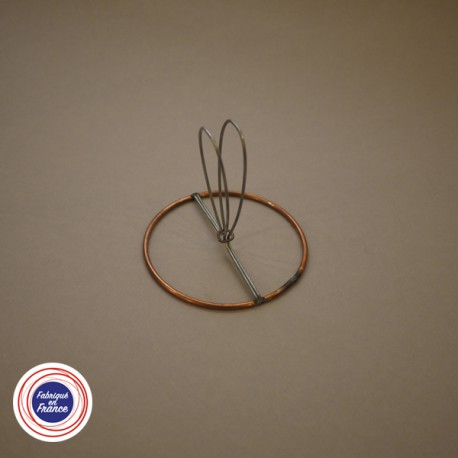 Cercle pour abat jour avec pince flamme - D8 - Falbala-luminaires
