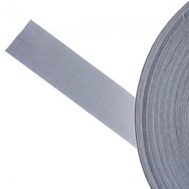 Galon textile plat adhésif gris