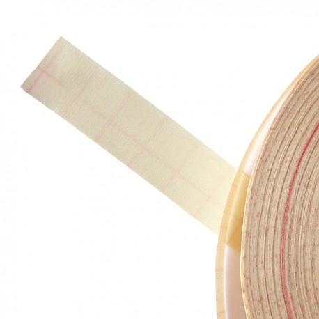 Galon textile plat adhésif ivoire - Falbala-luminaires