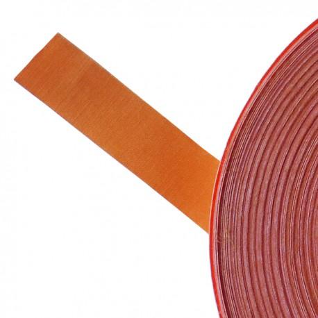 Galon textile plat adhésif orange