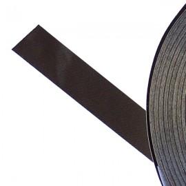 Galon textile plat adhésif marron - Falbala-luminaires