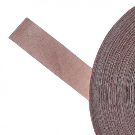 Galon textile plat adhésif rose ancien