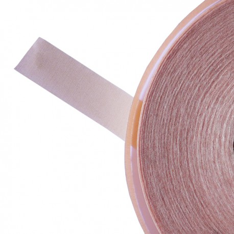 Galon textile plat adhésif rose clair