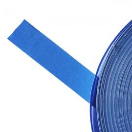 Galon textile plat adhésif bleu