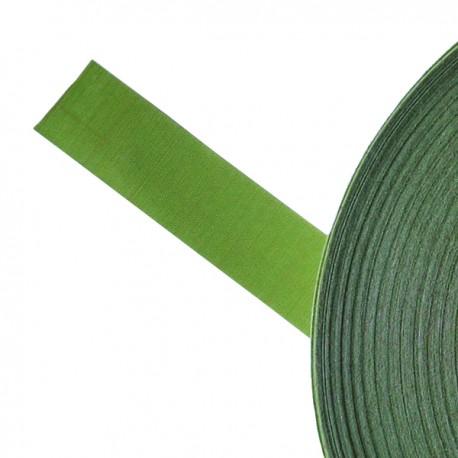 Galon textile plat adhésif vert - Falbala-luminaires