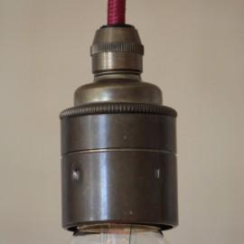 Douille E27 lisse laiton vieilli avec serre câble