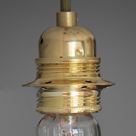 Douille E27 filetée laiton - Falbala Luminaires