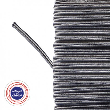 Galon textile soutache gris