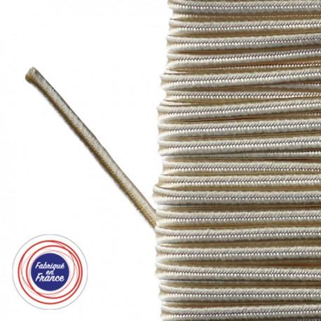 Galon textile soutache ivoire - Falbala-luminaires