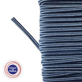 Galon textile soutache bleu orage