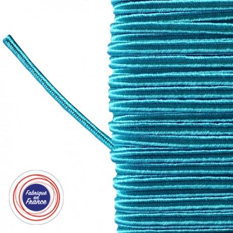 Galon textile soutache bleu cyan - Falbala-luminaires