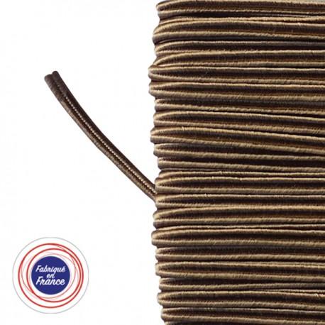 Galon textile soutache vieil or