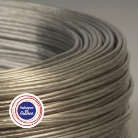 Câble Scindex 2x0,40 argent transparent