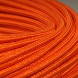 cable textile orange pour deco et design lumiere. Black Bedroom Furniture Sets. Home Design Ideas