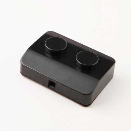 Interrupteur double noir à pied
