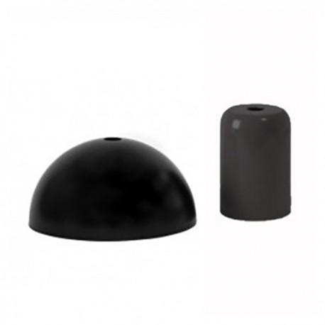 Pavillon et cache douille noir-Falbala luminaires