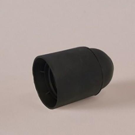 Douille E27 thermoplastique lisse noire - Falbala luminaires