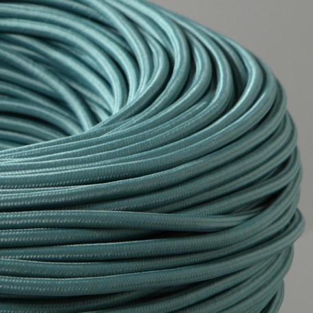 Câble textile céladon-falbala luminaires