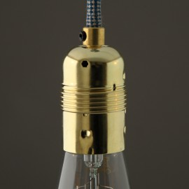 Douille E27 lisse laitonnée - Falbala luminaires