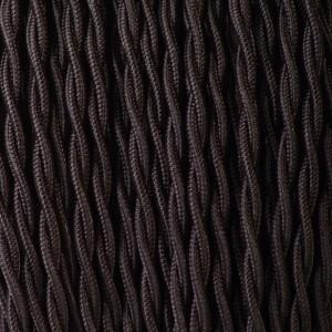 CABLE TEXTILE TORSADE 2X0.75mm² NOIR