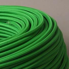 Câble textile vert kiwi 2x0.75mm² - Falbala-luminaires