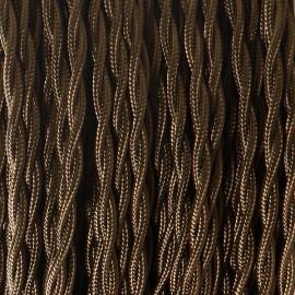 Câble textile torsadé 2x0.75mm² bronze - Falbala-luminaires