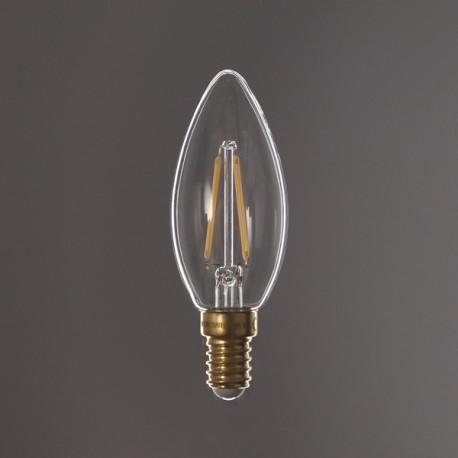 Flamme led droite claire - E14 - 2W - Falbala-luminaires