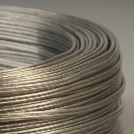 Câble scindex argent transparent 2 x 0,75 mm² - Falbala-luminaires