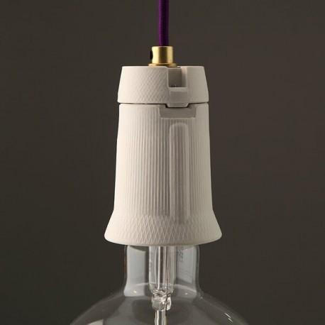Douille E40 porcelaine mate - Falbala-luminaires