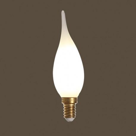 Flamme Grand Siècle led satinée - E14 - 4W - Falbala-luminaires