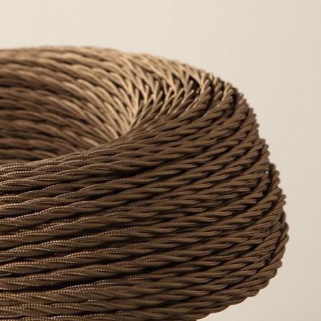 Câble textile torsadé 3x0.50mm² vieux bronze