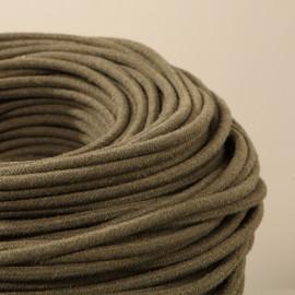 Câble textile recyclé lichen - Falbala Luminaires