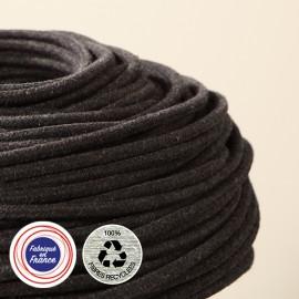 Câble textile recyclé Charbon - Falbala Luminaires