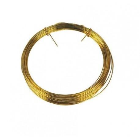 Rouleau fil laiton 0.6 mm -10 m - Falbala Luminaires