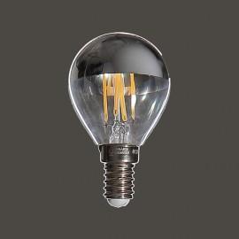 Ampoule Led sphérique E14 calotte argent - Falbala Luminaires