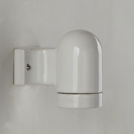 Applique E27 porcelaine blanche - Falbala Luminaires