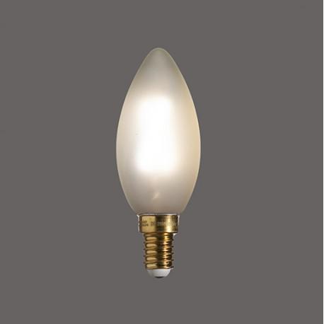 Flamme droite satinée E14 2W - Falbala Luminaires