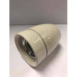 Douille E27 3/8 Gaz porcelaine