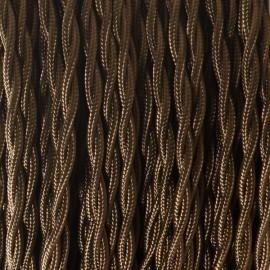 Câble textile torsadé 2x0.50mm² marron - Falbala-luminaires
