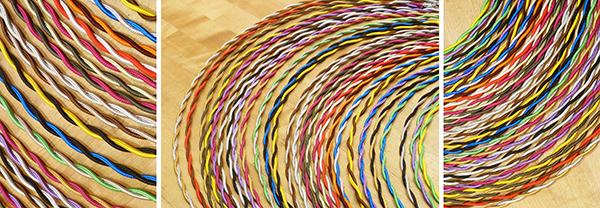 cable torsadé multicolore- Falbala Luminaires