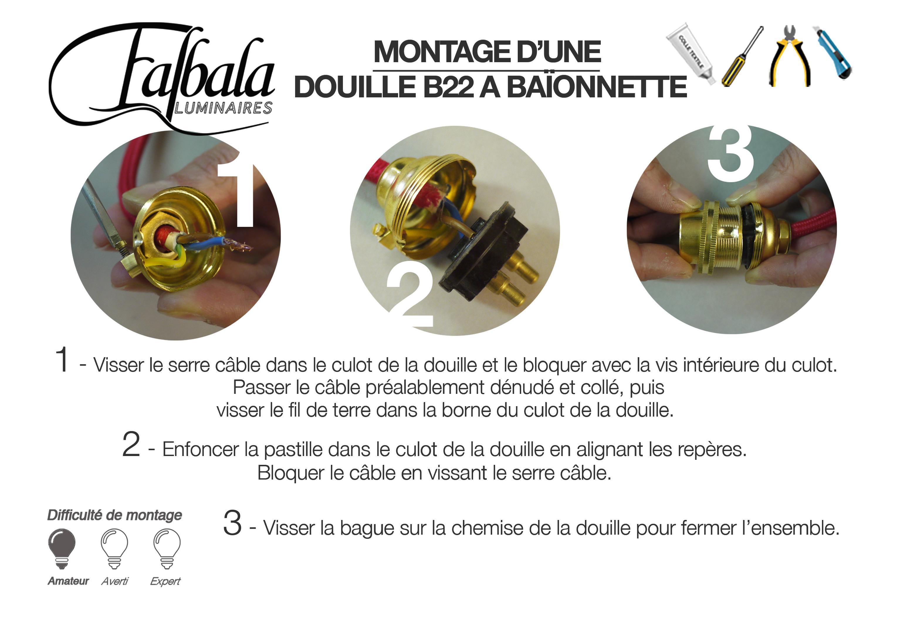 TUTO DOUILLE B22-Falbala Luminaires