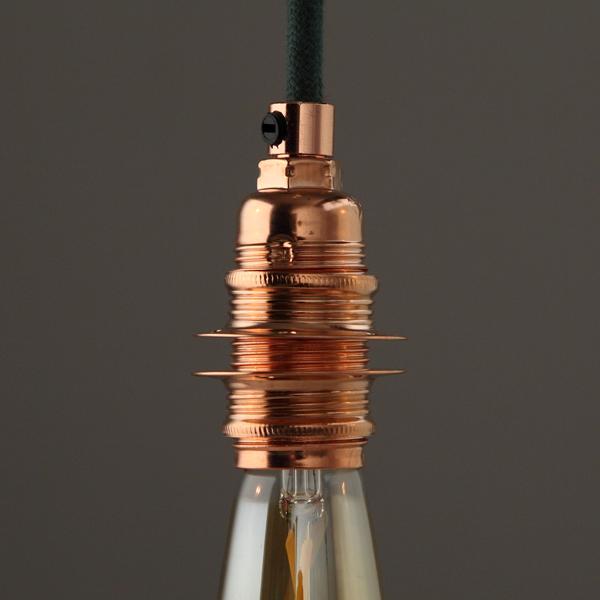 douille E14 filetée cuivre en situ-Falbala Luminaires