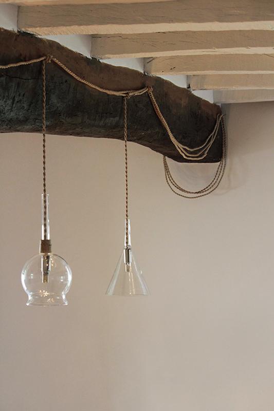 Entonnoirs verreries-falbala luminaires