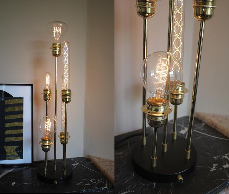 Lampe 5 tiges-falbala luminaires